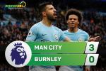 Tổng hợp: Man City 3-0 Burnley (Vòng 9 NHA 2017/18)