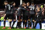 Những thống kê ấn tượng trận Everton 2-5 Arsenal
