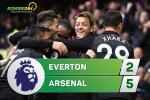 Tổng hợp: Everton 2-5 Arsenal (Vòng 9 NHA 2017/18)