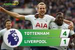 Tổng hợp: Tottenham 4-1 Liverpool (Vòng 9 NHA 2017/18)
