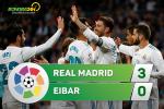Tổng hợp: Real Madrid 3-0 Eibar (Vòng 9 La Liga 2017/18)