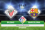Giai ma tran dau Bilbao vs Barca 01h45 ngay 29/10 (La Liga 2017/18)