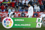 Tong hop: Girona 2-1 Real Madrid (Vong 10 La Liga 2017/18)
