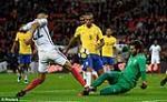 Tong hop: Anh 0-0 Brazil (Giao huu quoc te)