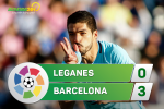 Tổng hợp: Leganes 0-3 Barca (Vòng 12 La Liga 2017/18)