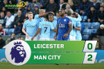 Tong hop: Leicester 0-2 Man City (Vong 12 NHA 2017/18)