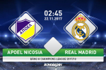 APOEL 0-6 Real Madrid: Nha DKVD tung bung vuot qua vong bang