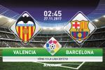 "Valencia vs Barcelona (2h45 ngay 27/11): Pique ""cuu"" La Liga?"