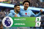 Tong hop: Man City 3-1 Arsenal (Vong 11 NHA 2017/18)