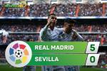 Tong hop: Real Madrid 5-0 Sevilla (Vong 15 La Liga 2017/18)