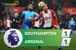 Tong hop: Southampton 1-1 Arsenal (Vong 16 Premier League 2017/18)