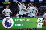Tong hop: Tottenham 5-1 Stoke (Vong 16 Premier League 2017/18)