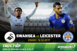 Swansea 2-0 Leicester (KT): Bay cao chim sau vao khung hoang