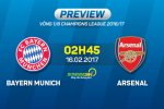 Bayern Munich vs Arsenal (02h45 ngay 16/2): Oan han chat chong