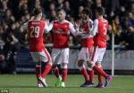 Tong hop: Sutton 0-2 Arsenal (Vong 5 FA Cup 2016/17)
