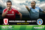 Middlesbrough 0-2 Man City (KT): Chien thang don gian de vao ban ket FA Cup