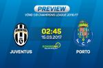 Juventus vs Porto (2h45 ngay 15/3): Lao ba vuot troi