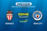Monaco vs Man City (02h45 ngay 16/03): Kinh nghiem va dang cap