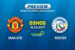 Giai ma tran dau MU vs Rostov 03h05 ngay 17/3 (Europa League 2016/17)