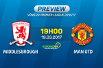 Middlesbrough vs MU (19h30 ngay 19/3): Mourinho tra thu thay ban?