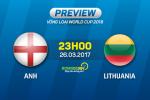 Anh vs Lithuania (23h00 ngày 26/3): Trong làn gió đổi thay
