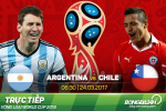Argentina 1-0 Chile: Messi giup Albiceleste nhay vao top 3