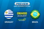 Uruguay vs Brazil (6h00 ngày 24/3): Chờ La Celeste phá dớp
