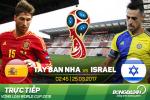 TRỰC TIẾP Tây Ban Nha 1-0 Israel (Hiệp 1): Silva mở tỷ số