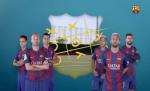 Dan sao Barca choi co caro tren san tap