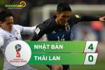 Tong hop: Nhat Ban 4-0 Thai Lan (VL World Cup 2018)