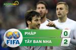 Tong hop: Phap 0-2 Tay Ban Nha (Giao huu quoc te)