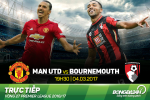 MU 1-1 Bournemouth (KT): Ibra hong 11m + 12 chong 10 = Hoa nhuc