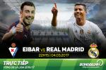 TRUC TIEP Eibar vs Real Madrid 22h15 ngay 4/3 (La Liga 2016/17)