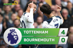 Tong hop: Tottenham 4-0 Bournemouth (Vong 33 NHA 2016/17)