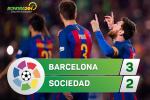 Tong hop: Barca 3-2 Sociedad (Vong 32 La Liga 2016/17)