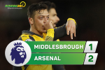 Middlesbrough 1-2 Arsenal: Thang tro lai nho so do la