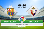 """Barca vs Osasuna (0h30 ngày 27/4): """"Messi, để chúng tôi lo!"""""""