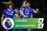 Tổng hợp: Chelsea 4-2 Southampton (Vòng 34 NHA 2016/17)