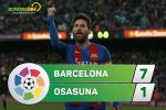 Tổng hợp: Barca 7-1 Osasuna (Vòng 34 La Liga 2016/17)