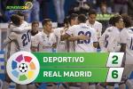 Tổng hợp: Deportivo 2-6 Real Madrid (Vòng 34 La Liga 2016/17)