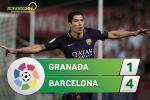 Granada 1-4 Barca (KT): Vang Messi, Blaugrana van thang don gian