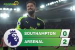 Southampton 0-2 Arsenal (KT): No luc leo len thu 5
