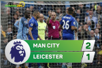 Man City 2-1 Leicester (KT): Mahrez sut hong 11m kho tin, Man xanh thang may