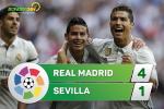 Tong hop: Real Madrid 4-1 Sevilla (Vong 37 La Liga 2016/17)