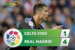 Tong hop: Celta Vigo 1-4 Real Madrid (Da bu vong 21 La Liga 2016/17)