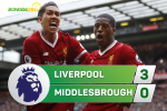 Liverpool 3-0 Middlesbrough (KT): The Kop tung bung gianh ve du Champions League