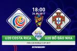 TRỰC TIẾP U20 Costa Rica 1-1 U20 BĐN (H2): Đàn em Ronaldo chỉ còn 10 người trên sân