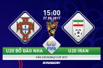 U20 BĐN 2-1 U20 Iran (KT): Đàn em của Ronaldo thót tim vượt qua vòng bảng