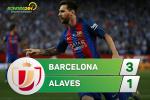 Tong hop: Barca 3-1 Alaves (Chung ket cup Nha vua TBN 2016/17)