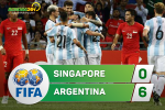 Tong hop: Singapore 0-6 Argentina (Giao huu quoc te)